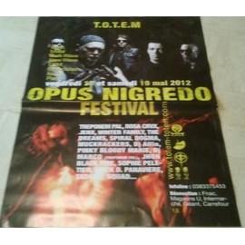 Opus Nigredo Festival - AFFICHE MUSIQUE / CONCERT / POSTER