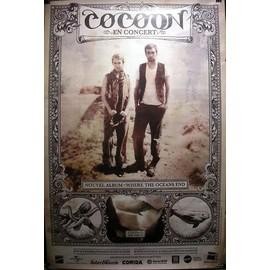 Cocoon - Where The Oceans End - AFFICHE MUSIQUE / CONCERT / POSTER