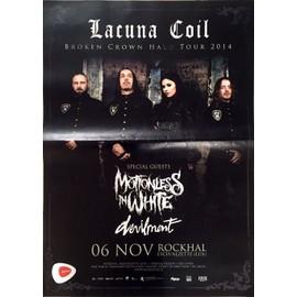 Lacuna Coil - Tour 2014 - AFFICHE MUSIQUE / CONCERT / POSTER