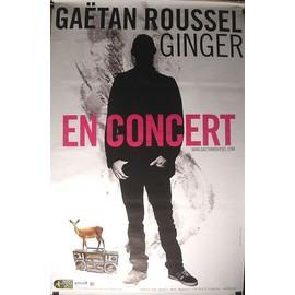Gaëtan ROUSSEL - AFFICHE MUSIQUE / CONCERT / POSTER