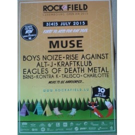 Muse - RAF 2015 - AFFICHE MUSIQUE / CONCERT / POSTER