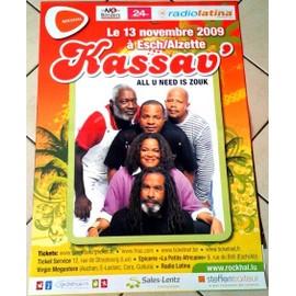 Kassav' - All U Need Is Zouk - AFFICHE MUSIQUE / CONCERT / POSTER