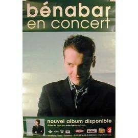 Benabar - Bénabar - AFFICHE MUSIQUE / CONCERT / POSTER
