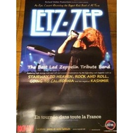 Letz-Zep - Led Zeppelin Tribute - AFFICHE MUSIQUE / CONCERT / POSTER