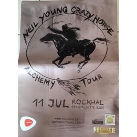Neil Young Crazy Horse - Alchemy Tour - AFFICHE MUSIQUE / CONCERT / POSTER