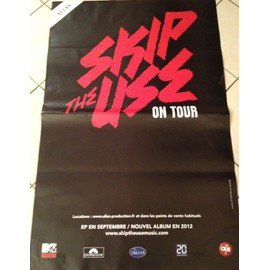 Skip The Use - On Tour - AFFICHE MUSIQUE / CONCERT / POSTER