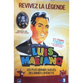 Luis MARIANO - AFFICHE MUSIQUE / CONCERT / POSTER