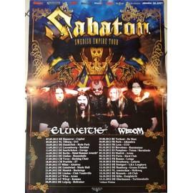 Sabaton - Swedish Empire Tour - AFFICHE MUSIQUE / CONCERT / POSTER