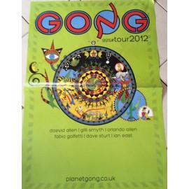 GONG - 99%#tour 2012 - AFFICHE MUSIQUE / CONCERT / POSTER