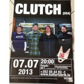 CLUTCH - AFFICHE MUSIQUE / CONCERT / POSTER