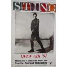 Sting - soul cages - AFFICHE MUSIQUE / CONCERT / POSTER