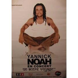 NOAH Yannick - Un autre voyage - AFFICHE MUSIQUE / CONCERT / POSTER
