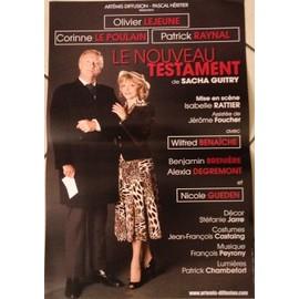 Le Nouveau Testament - Corrine Le Poulain - Sacha Guitry - AFFICHE MUSIQUE / CONCERT / POSTER