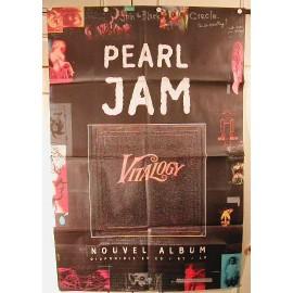 Pearl Jam - affiche pliée - AFFICHE MUSIQUE / CONCERT / POSTER