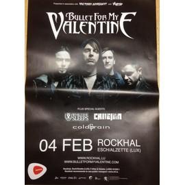 Bullet For My Valentine - AFFICHE MUSIQUE / CONCERT / POSTER
