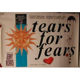 Tears For Fears - 1988 - AFFICHE MUSIQUE / CONCERT / POSTER