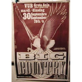 BIG COUNTRY - AFFICHE MUSIQUE / CONCERT / POSTER