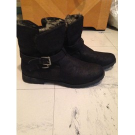 Bottines Noires Fourr�es