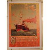 Messageries Maritimes - - Affiche / Poster Envoi En Tube