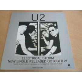 "U2 - Electrical Storm 12"" Advert - AFFICHE / POSTER envoi en tube"