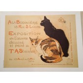 A La Bodini�re - Chat - Steinlen - Affiche / Poster Envoi En Tube