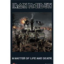 IRON MAIDEN - Life And Death - AFFICHE / POSTER envoi en tube