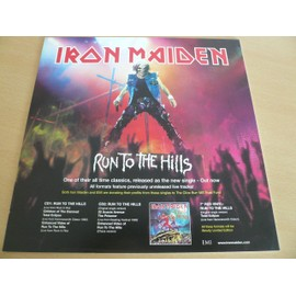 "Iron Maiden - Run To The Hills 12"" Advert - AFFICHE / POSTER envoi en tube"