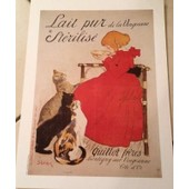 Lait Pur Vingeanne St�rilis� - Steinlen - Affiche / Poster Envoi En Tube