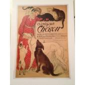 Clinique Ch�ron - V�t�rinaire - Steinlen - Affiche / Poster Envoi En Tube