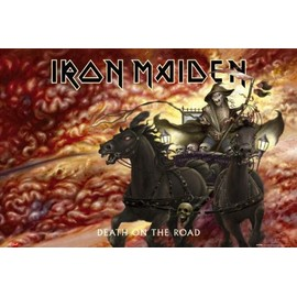 IRON MAIDEN - Death On The Road - AFFICHE / POSTER envoi en tube