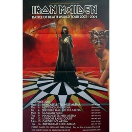 Iron Maiden - Dance OF Death Tour - AFFICHE / POSTER envoi en tube