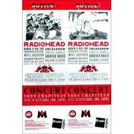 RADIOHEAD - Sous Chapiteau, France 19/20 September 2000 - Original Promo Poster - AFFICHE / POSTER envoi en tube