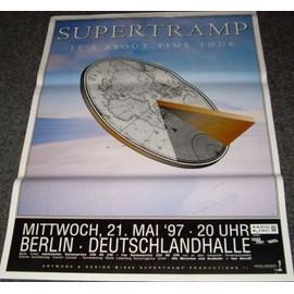 Supertramp - It's About Time Tour - AFFICHE / POSTER envoi en tube