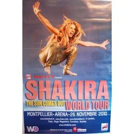 Shakira - World Tour 2010 - AFFICHE / POSTER envoi en tube