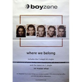 Boyzone - Where we belong - AFFICHE / POSTER envoi en tube
