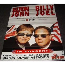Elton JOHN & Billy JOEL - In Concert - AFFICHE / POSTER envoi en tube