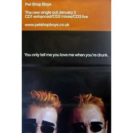 Pet Shop Boys - You Only Tell Me Love - AFFICHE / POSTER envoi en tube