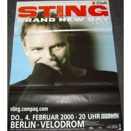Sting - Brand New Day Tour - AFFICHE / POSTER envoi en tube