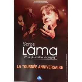 Serge LAMA - Mes Plus Belles Chansons - AFFICHE / POSTER envoi en tube