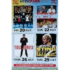 Beach Boys - Hyde Park, with Sting,Status Quo,Tom Jones - AFFICHE / POSTER envoi en tube