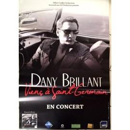 Dany Brillant - Viens à Saint-Germain - AFFICHE / POSTER envoi en tube