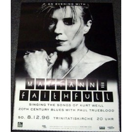 Marianne FAITHFUL - Tour 1996 - AFFICHE / POSTER envoi en tube