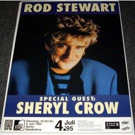Rod Stewart - Tour 1995 - AFFICHE / POSTER envoi en tube