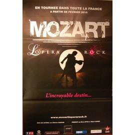 MOZART - L'Opéra Rock - L'incroyable Destin - AFFICHE / POSTER envoi en tube