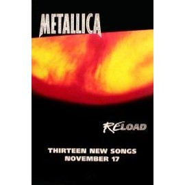 Metallica - Reload - AFFICHE / POSTER envoi en tube