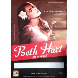 Beth Hart - Le Blues au C¿ur - AFFICHE / POSTER envoi en tube
