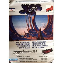YES - Yesshow '91 - AFFICHE / POSTER envoi en tube