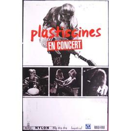 Plasticines - En Concert - AFFICHE / POSTER envoi en tube