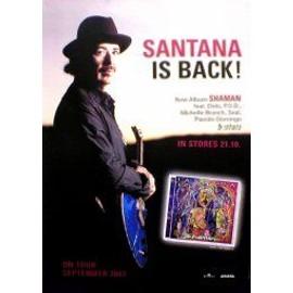 Santana - Shaman - AFFICHE / POSTER envoi en tube