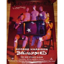 George HARRISON - Brainwashed - AFFICHE / POSTER envoi en tube